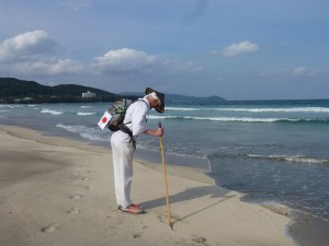 2013 ossi stock in shikoku japan als Pilger unterwegs
